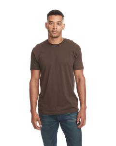 Dark Chocolate Men's Premium Fitted Short-Sleeve Crew
