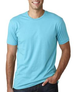 Tahiti Blue Men's Premium Fitted Short-Sleeve Crew