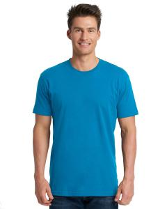 Turquoise Men's Premium Fitted Short-Sleeve Crew