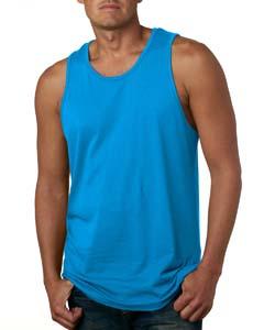Turquoise Men's Premium Jersey Tank
