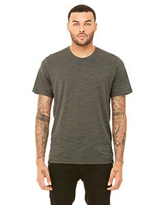 Olive Slub Unisex Poly-Cotton Short-Sleeve T-Shirt