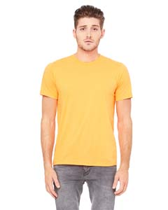 Neon Orange Unisex Poly-Cotton Short-Sleeve T-Shirt
