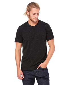 Black Speckled Unisex Poly-Cotton Short-Sleeve T-Shirt