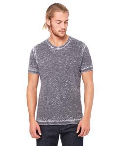 Grey Acid Wash Unisex Poly-Cotton Short-Sleeve T-Shirt