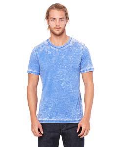 Tr Ryl Acid Wash Unisex Poly-Cotton Short-Sleeve T-Shirt