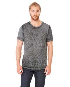 Blk Acid Wash Unisex Poly-Cotton Short-Sleeve T-Shirt