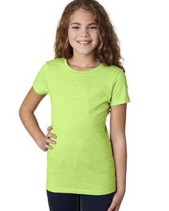 Neon Green Girls' Princess CVC Tee