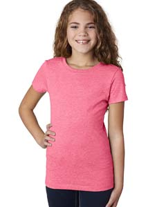 Neon Hthr Pink Girls' Princess CVC Tee