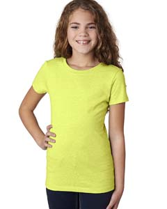 Neon Yellow Girls' Princess CVC Tee