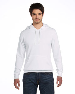 White Unisex Poly-Cotton Fleece Pullover Hoodie