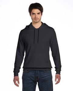 Dk Gry Hthr/blck Unisex Poly-Cotton Fleece Pullover Hoodie