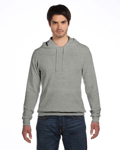 Lt Grey Marble Unisex Poly-Cotton Fleece Pullover Hoodie