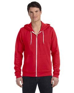 Red Unisex Poly-Cotton Fleece Full-Zip Hoodie