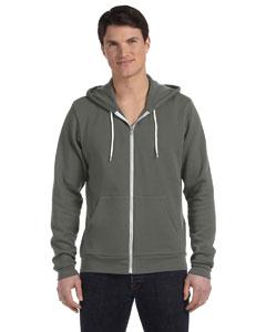 Asphalt Unisex Poly-Cotton Fleece Full-Zip Hoodie