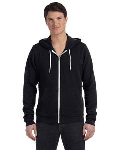 Black Unisex Poly-Cotton Fleece Full-Zip Hoodie