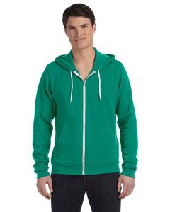Kelly Unisex Poly-Cotton Fleece Full-Zip Hoodie