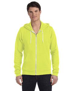 Neon Yellow Unisex Poly-Cotton Fleece Full-Zip Hoodie