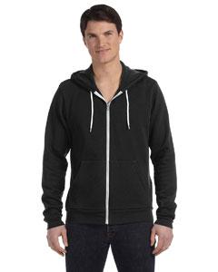 Digital Black Unisex Poly-Cotton Fleece Full-Zip Hoodie