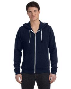 Digital Blue Unisex Poly-Cotton Fleece Full-Zip Hoodie