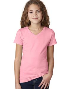 Light Pink Girls' Adorable V-Neck Tee