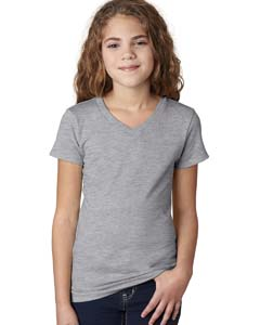 Heather Gray Girls' Adorable V-Neck Tee