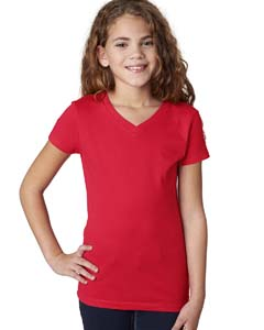 Red Girls' Adorable V-Neck Tee
