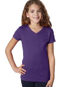 Purple Rush Girls' Adorable V-Neck Tee