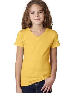 Vibrant Yellow Girls' Adorable V-Neck Tee