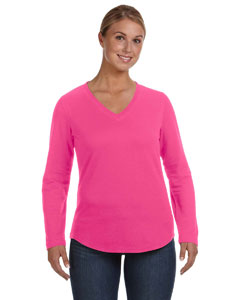 Hot Pink Women's V-Neck Pullover