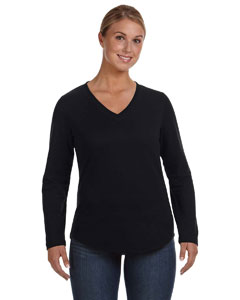 Black Women's V-Neck Pullover
