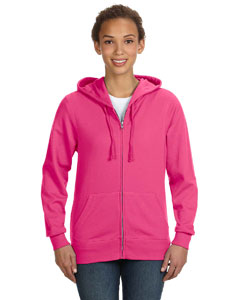 Hot Pink Women's Full-Zip Hoodie