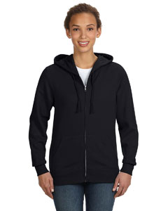 Black Women's Full-Zip Hoodie