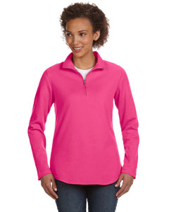 Hot Pink Women's Quarter-Zip Pullover