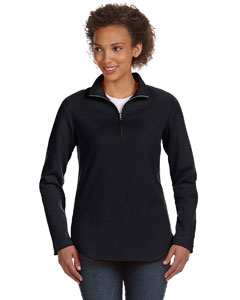 Black Women's Quarter-Zip Pullover