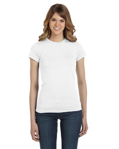 White Women's Junior Fit Fashion T-Shirt