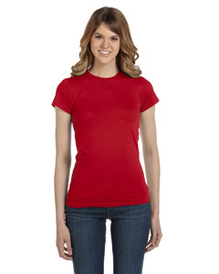 Red Women's Junior Fit Fashion T-Shirt