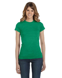 Heather Green Women's Junior Fit Fashion T-Shirt