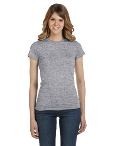 Heather Grey Women's Junior Fit Fashion T-Shirt
