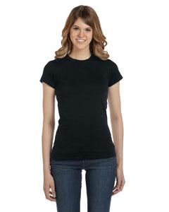 Black Women's Junior Fit Fashion T-Shirt