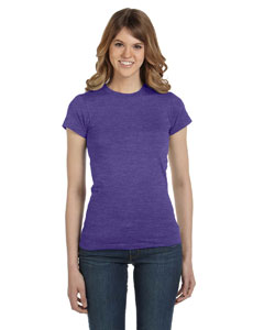 Heather Purple Women's Junior Fit Fashion T-Shirt