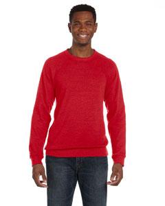 Red Unisex Sponge Fleece Crew Neck Sweatshirt