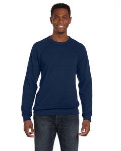 Navy Triblend Unisex Sponge Fleece Crew Neck Sweatshirt