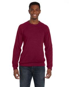 Red Triblend Unisex Sponge Fleece Crew Neck Sweatshirt