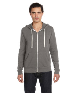 Grey Triblend Unisex Triblend Sponge Fleece Full-Zip Hoodie