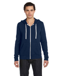 Navy Triblend Unisex Triblend Sponge Fleece Full-Zip Hoodie