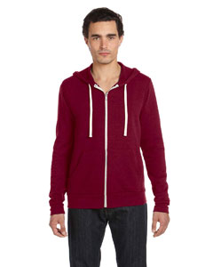 Red Triblend Unisex Triblend Sponge Fleece Full-Zip Hoodie