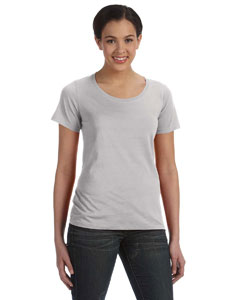 Silver Women's Sheer Combed Ringspun Scoop T-Shirt