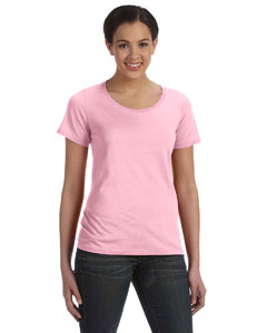 Charity Pink Women's Sheer Combed Ringspun Scoop T-Shirt