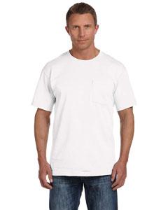 White 5 oz., 100% Heavy Cotton HD® Pocket T-Shirt