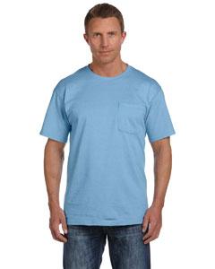 Light Blue 5 oz., 100% Heavy Cotton HD® Pocket T-Shirt